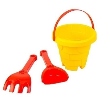 Набор для песка Tigres Башня, 3 эл., желтый с красным (39282) Tigres