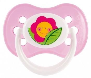"""Силиконовая круглая пустышка Canpol Babies """"Веселый сад"""" (0-6 месяцев), розовый (22/556) Canpol babies"""