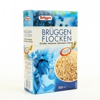 Особо нежные овсяные хлопья Bruggen, 500 г, картон Bruggen
