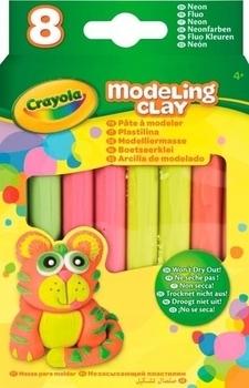 Незасыхающий пластилин Crayola, неоновый, 8 шт. (57-0313) Crayola