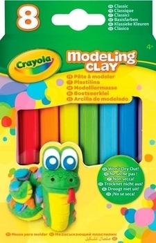 Незасыхающий пластилин Crayola Классика, 8 шт. (57-0312) Crayola