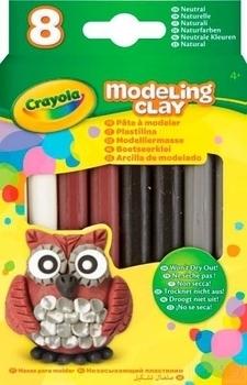 Незасыхающий пластилин Crayola Природные цвета, 8 шт. (57-0314) Crayola