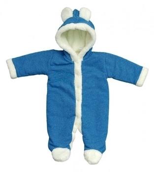 betis Комбинезон с вышивкой BetiS Happy baby, махра, р.74, синий (27076286)