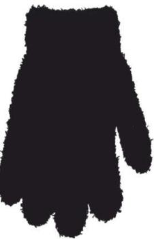 yo! Махровые перчатки для мальчика YO! однотонные, р. 14, черный (R-203/BOY/14)