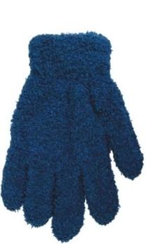 yo! Махровые перчатки для мальчика YO! однотонные, р. 14, голубой (R-203/BOY/14)