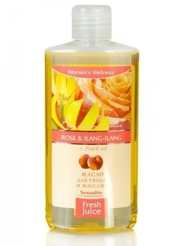 Масло для ухода и массажа Fresh Juice Rose & Ilang-Ilang + Peach oil, 150 мл Fresh Juice