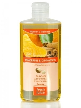 Масло для ухода и массажа Fresh Juice Tangerine & Cinnamon + Macadamia oil, 150 мл Fresh Juice