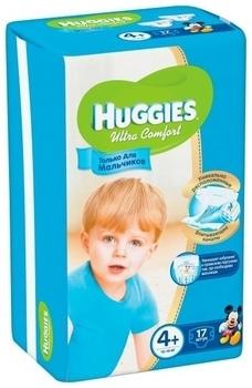 Подгузники Huggies Ultra Comfort для мальчиков 4+ (10-16 кг) 17 шт. Huggies