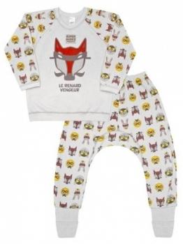 1aa90dbb6a67e Пижама для мальчика Smil, футер с начесом, р. 86, серый меланж ...