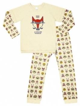 smil Пижама для мальчика Smil, футер с начесом, р. 110, бежевый (104349110крем)
