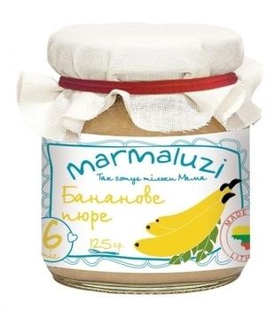 Пюре Marmaluzi Банан, 125 г Marmaluzi