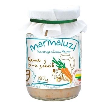 Пюре Marmaluzi Каша из трех видов зерновых, 190 г Marmaluzi