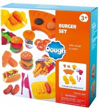 Набор для лепки PlayGo Бургерная, 3 цвета (8584) PlayGo