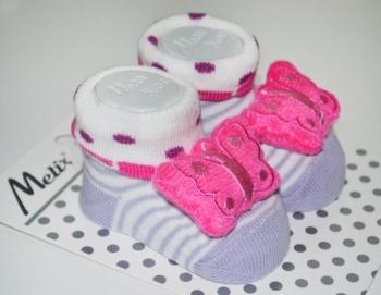 Носки Melix с игрушкой, 0-6 мес., фиолетовый (91635) Melix