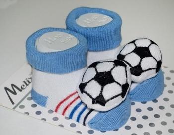 Носки Melix с игрушкой, 0-6 мес., голубой (91635) Melix