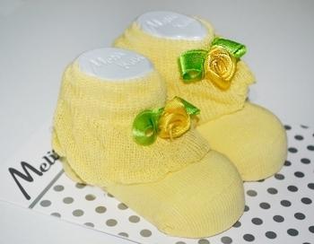 Носки для девочки Melix, 0-6 мес., желтый (91680) Melix