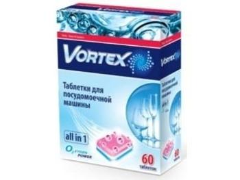 Таблетки для посудомоечной машины Vortex Аll in 1, 60 шт. Vortex
