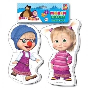 Купить Пазлы, шнуровки и головоломки, Макси пазлы Vladi Toys Маша и Медведь. Маша (VT1108-03)