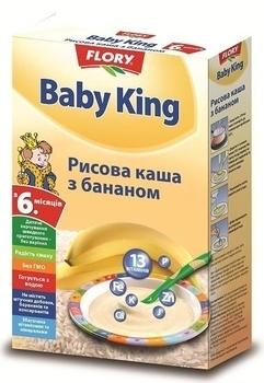 baby king Безмолочная каша Baby King Рисовая с бананом, 160 г