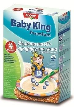 baby king Молочная каша Baby King Премиум Рисово-кукурузная с пребиотиками, 160 г