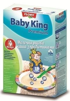 baby king Молочная каша Baby King Премиум Рисовая с пребиотиками, 160 г