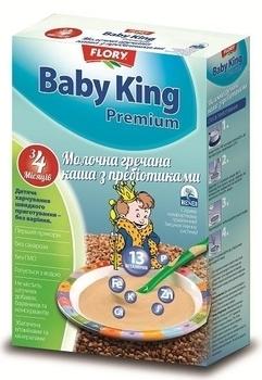 baby king Молочная каша Baby King Премиум Гречневая с пребиотиками, 160 г