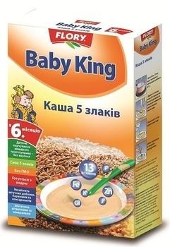 baby king Безмолочная каша Baby King 5 злаков, 160 г
