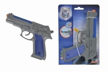 Полицейский пистолет Simba со звуковыми и световыми эффектами, 21 см (8108661) Simba