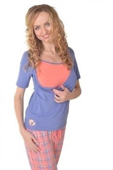 Пижама Мамин дом Glory, р.46, фиолетовый с коралловым (24171)