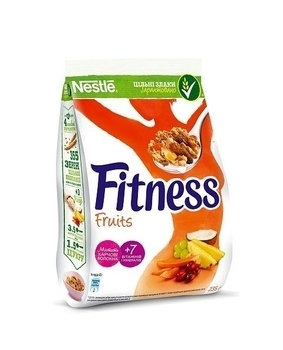 Готовый завтрак Fitness с фруктами, 235 г Nestle