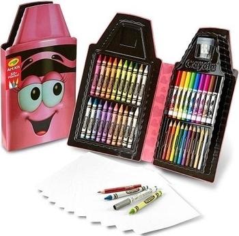 Пенал для творчества Crayola Восковой мелок, розовый (04-6900) Crayola