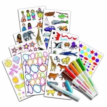 Набор для творчества с наклейками и фломастерами Crayola Crayola