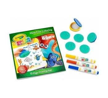 Набор для творчества Crayola со штампами и фломастерами В поисках Дори, серия Color Wonder Crayola