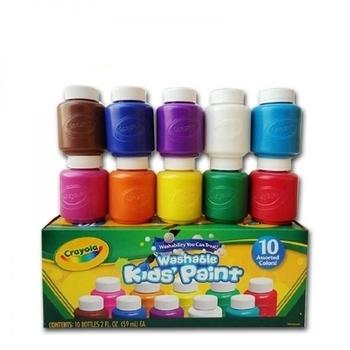 Легкосмываемые краски Crayola (Крайола), 10 шт. Crayola