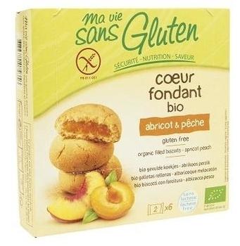 Органическое безглютеновое песочное печенье Ma vie sans Gluten с начинкой абрикос-персик, 200 г Ma vie sans Gluten
