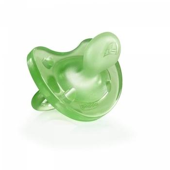 Силиконовая пустышка Chicco Physio Soft, 12+, зеленая Chicco