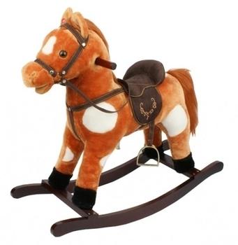 Лошадка-качалка с музыкой Rock my Baby, коричневый с белым Rock my Baby
