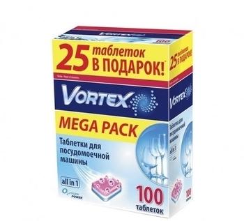 Таблетки для посудомоечной машины Vortеx Аll in 1, 100шт. Vortex