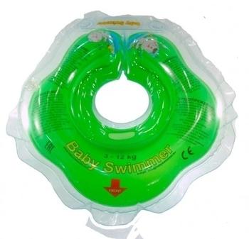 Купить Круги для купания, Круг для купания малышей BabySwimmer, 0-24 мес., зеленый (КР101025)