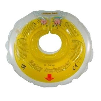 Круг для купания малышей BabySwimmer (от 6 до 36 мес.), желтый BabySwimmer