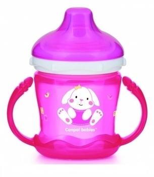 Кружка непроливайка Canpol Babies Sweet fun, 180 мл, розовый (57/300) Canpol babies