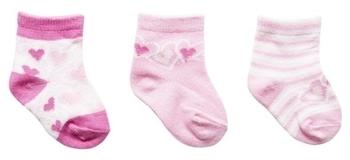 Носки YO! Сердце, 0-3 мес., розовый, 3 шт. (SKC/3-PAK/GIRL/0-3 сердце) YO!