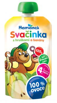 Пюре Hamanek груша и банан, 120 г Hame
