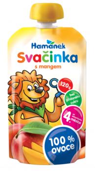 Пюре Hamanek яблоко и манго, 120 г Hame