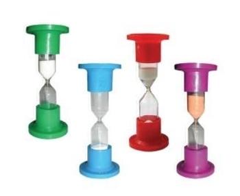 Часы песочные настольные Стеклоприбор, в ассортименте, 12х4,8 см, 1 мин. Стеклоприбор