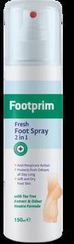 Дезодорант антиперспирант 2 в 1 Footprim, 150 мл Footprim