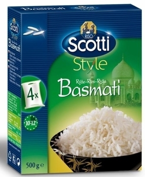 Рис Басмати в пакетах Riso Scotti, 500 г Riso Scotti