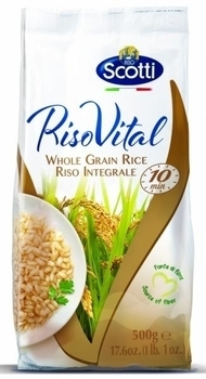 Рис коричневый пропаренный нешлифованный Riso Scotti, 500 г Riso Scotti