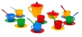 Набор посуды Tigres Ромашка, в сумке, 28 элементов (39129-2) Tigres