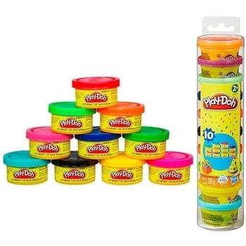 Набор пластилина для праздника Hasbro Play-Doh 10 мини-баночек в тубусе (22037) Hasbro